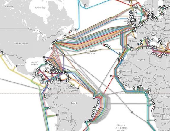 全球海底光缆部署地图