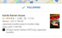 谷歌地图新功能 制作想旅行的地点和路线并分享