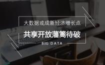 大数据或成新经济增长点 共享开放藩篱待破