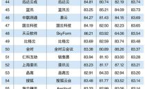 2017云计算企业百强榜