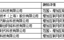 2018第2批 工信部颁发11家云服务、CDN牌照
