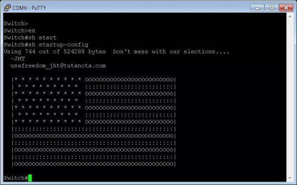 黑客在受影响的机器上留下的消息屏幕截图。图片:Twitter