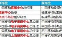 突发重磅:中国移动最新一轮中高层调整,涉及新建多个中心!