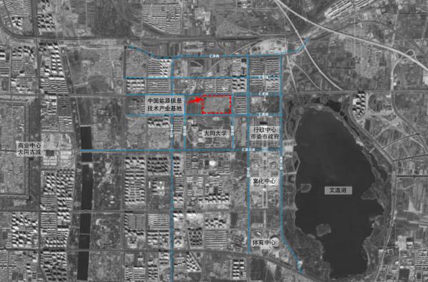 中国能源信息产业基地地理位置图