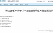 网宿中标中移动咪咕2018年CDN加速采购项目