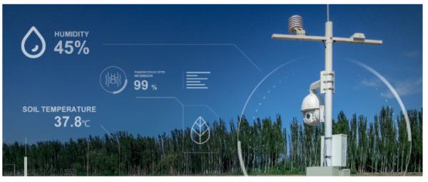 收集湿度、土壤温度等田间数据的慧云信息传感器