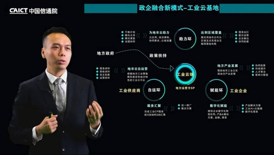 腾讯云智能制造总经理梁定安发表主题演讲