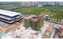南京腾讯华东云计算基地项目101#研发楼封顶