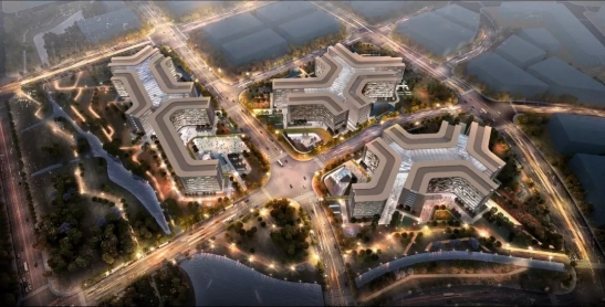阿里北京总部鸟瞰图