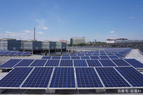 百度数据中心楼顶太阳能板