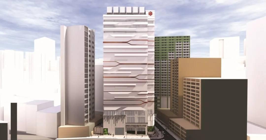 万国数据香港一号数据中心主体大楼效果图