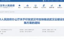 武汉加快推进武汉云建设,三年建成云数据中心存储数据40PB