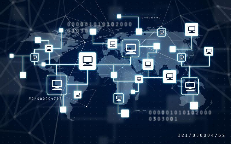 摄图网_通过互联网技术连接虚拟网络世界(边缘计算)