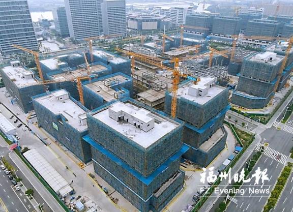 中国东南大数据产业园研发楼五期封顶
